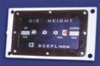 Shut Height Indicator, Die height Counter